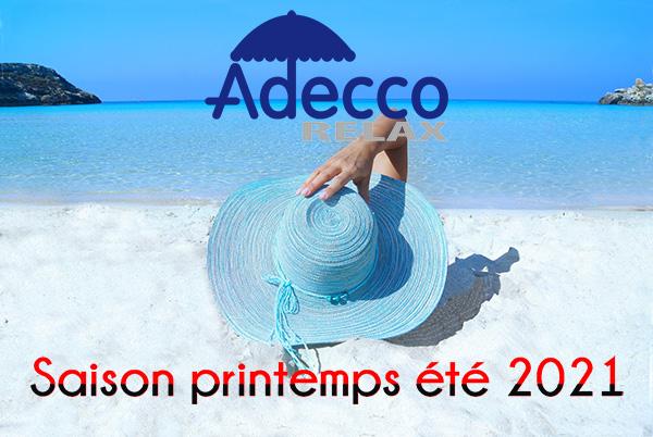 Adecco Relax : ouverture de la saison printemps été 2021